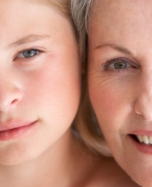 Portrait Of Grandmother And Granddaughter